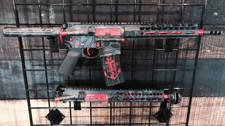 Palmetto PA-15 Pistol with 300AAC Upper (H-167 USMC Red, H-234 Sniper Grey, H-146 Graphite Black)